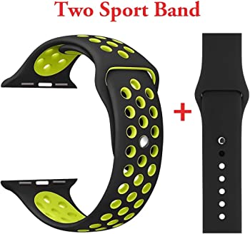 Yunsea Sport Silicone Replacement Band for Apple Watch 1/2/3