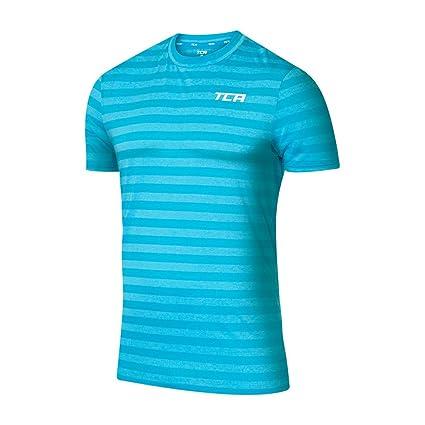 TCA Hazard Mens T-Shirt Orange Short Sleeve Top Gym Running Training Workout Tee