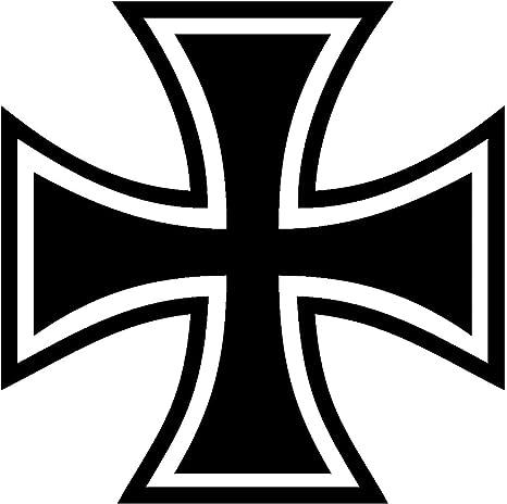 Samunshi Aufkleber Eisernes Kreuz Motiv In 11 Größen Und 25 Farben 4x4cm Schwarz Auto
