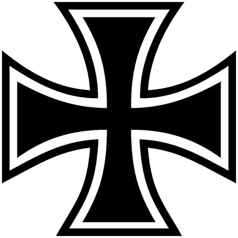 Samunshi Aufkleber Eisernes Kreuz Motiv In 11 Größen Und 25 Farben 20x20cm Schwarz