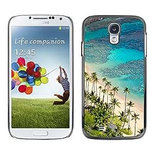King Case - FOR Samsung Galaxy S4 - Hawaii Palm Trees Beach - Caja protectora de pl??stico duro Dise?¡Àado