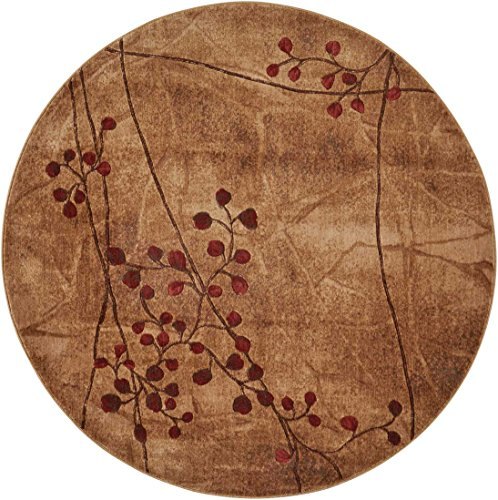 Nourison Somerset (ST74) Latte Round Area Rug, 5-Feet 6-Inches by 5-Feet 6-Inches (5'6
