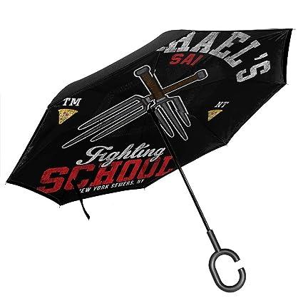 Raphael Sai - Paraguas invertido de Doble Capa con diseño de ...