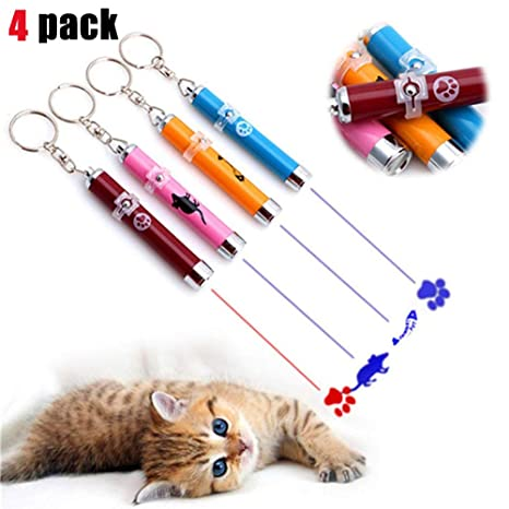 Amazon.com: Paquete de 4 punteros láser para gatos, gatos ...