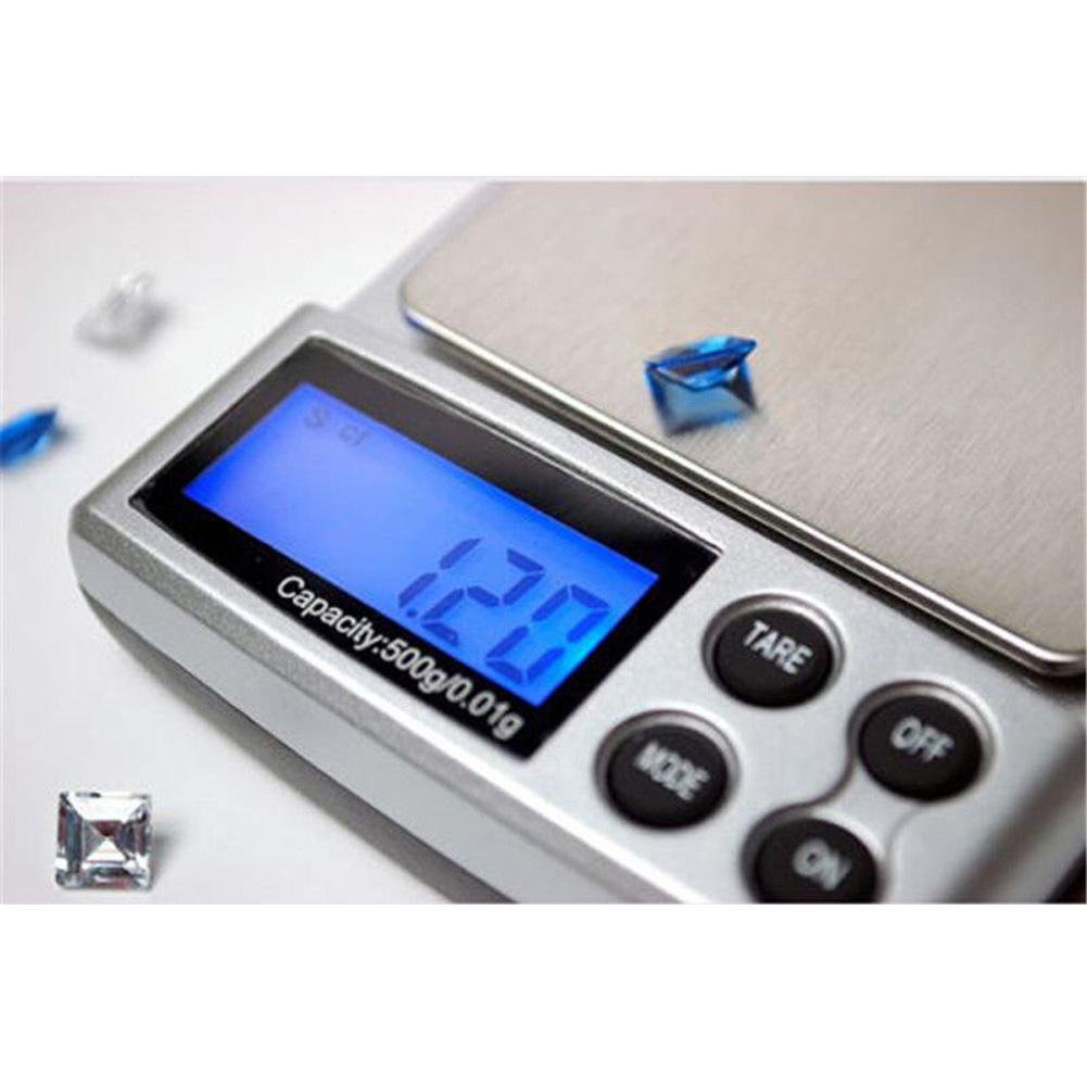 Demiawaking 500g x 0.01g Bilancia Tascabile Digitale per Gioielli Oro Argento e Erbe Medicinali