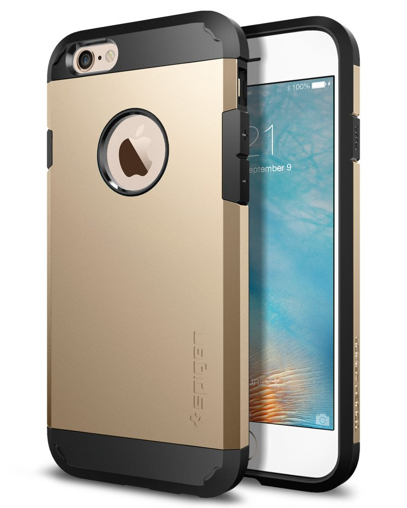 Spigen Tough Armor I Phone 6 S Case With Extreme Heavy Duty Protection And Air Cushion Techonology For I Phone 6 S / I Phone 6   Champagne Gold by Spigen