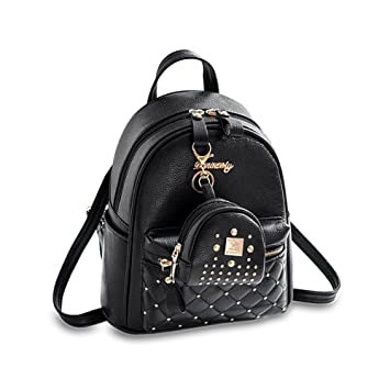 f15de2fd8ef Amazon.com   Cute Small Backpack Mini Purse Casual Daypacks Leather for  Teen Girls and Women   Backpacks