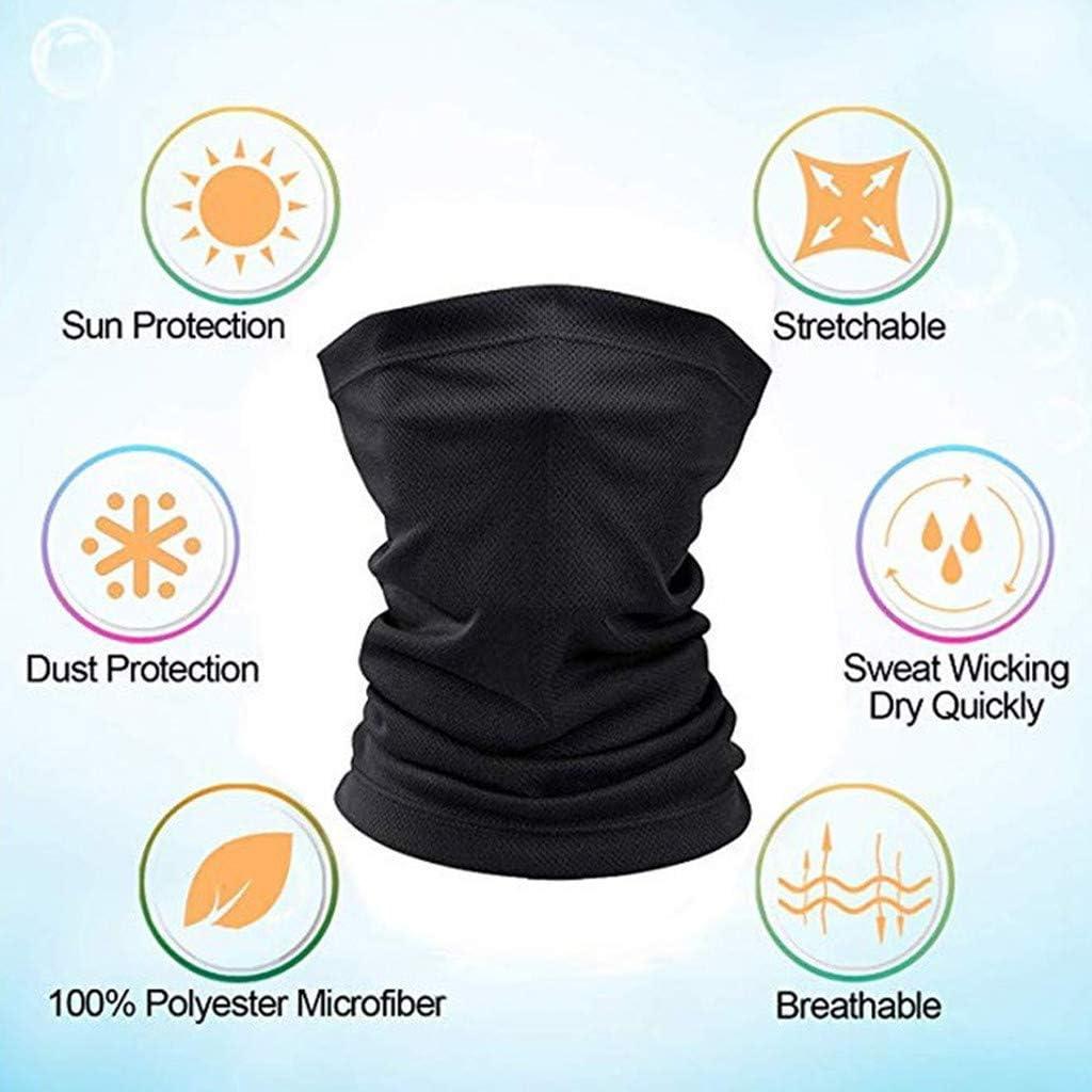 Light Grey Multifunctional Headwear Face Mask Headband Neck Gaiter Scarf Sunscreen Breathable Bandana for Hot Summer Cycling Hiking Fishing