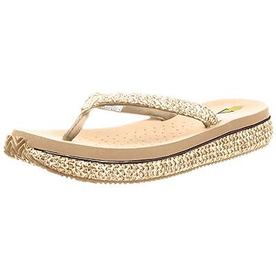 Volatile Women's Palau Wedge Sandal, Natural, 9 B US | Platforms & Wedges
