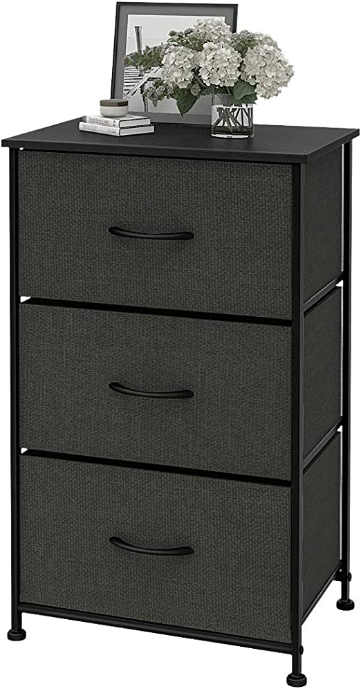 Chest of Drawers Dresser Wood 3 Drawer Organizer Cabinet Nightstand for Bedroom