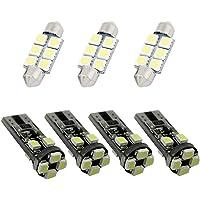 LED Bulbs For Volkswagen Jetta MK4 Reading lights,Xenon White Super Bright Error Free Canbus Car Interior Dome Map Door…