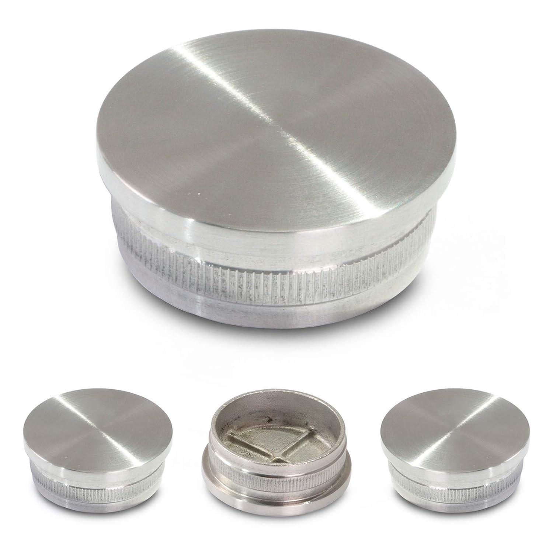 7x2mm 10 Stück silber Edelstahl Endkappe