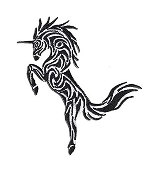 7fa37b666 Image Unavailable. Image not available for. Color: Fantasy Animals Iron on  Patch - Unicorn Tribal Tattoo ...
