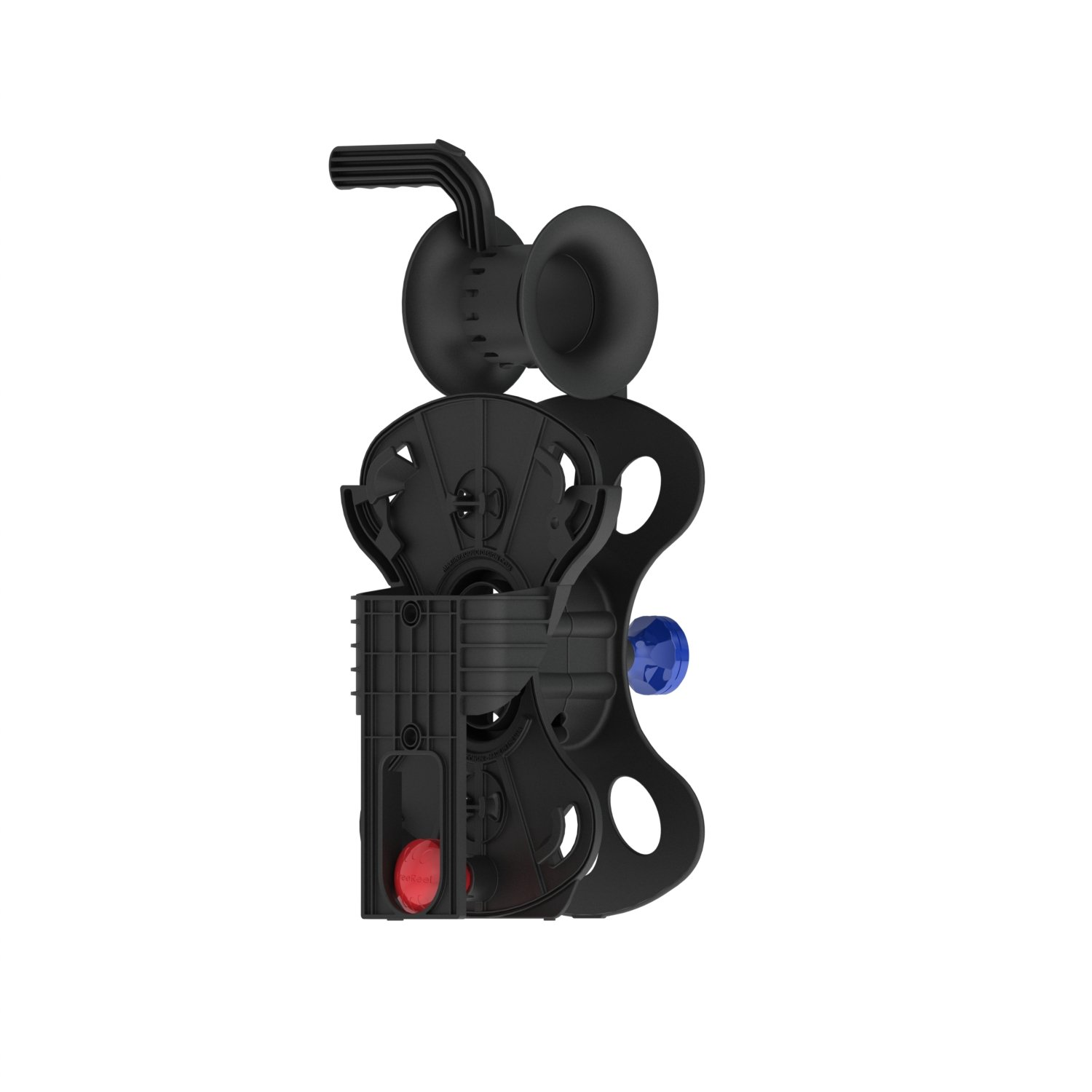 FreeReel - Heavy Duty Extension Cord Reel 100 ft 12/3, Air Hose Reel - Cord, Hose and Cable Storage Organizer - Includes 2 Storage Cassette Reel, 2 Precision Guide/Winder, 2 Wall Storage Mount by FreeReel (Image #6)