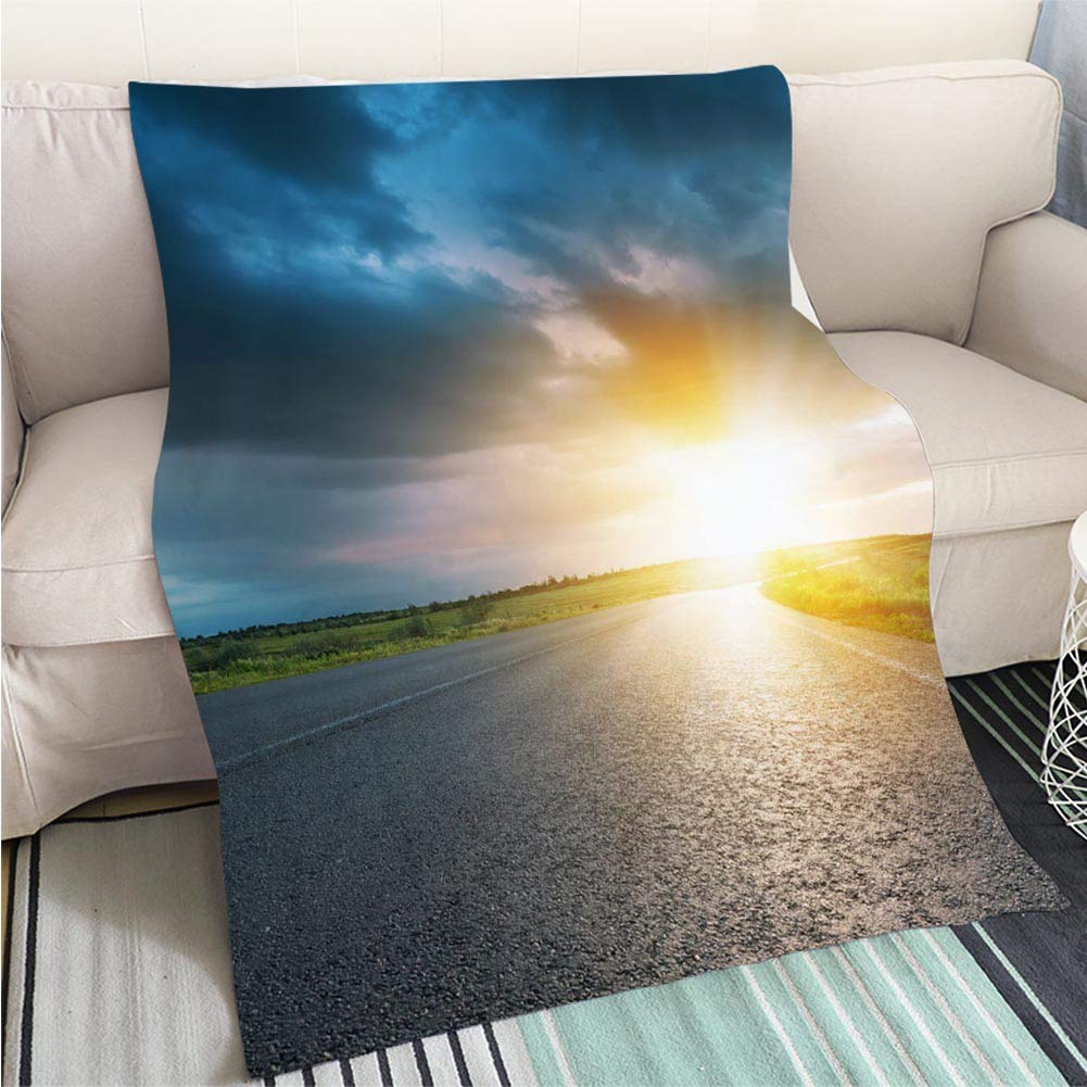 color11 47 x 80in Creative Flannel Printed Blanket for Warm Bedroom Low Angle Shot of Beech Tree Forest Perfect for Couch Sofa or Bed Cool Quilt