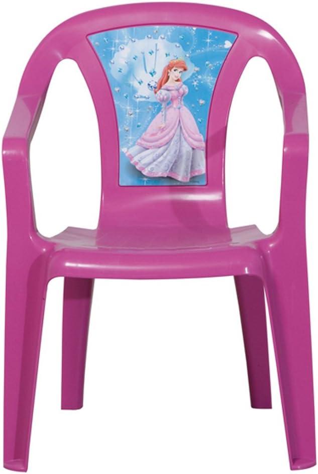 PROGARDEN 46214 Bambini impilabili 'Princess' Chair Sedia Bambino, 35 x 36,5 x 51,5 cm, Interamente in plastica Rosa