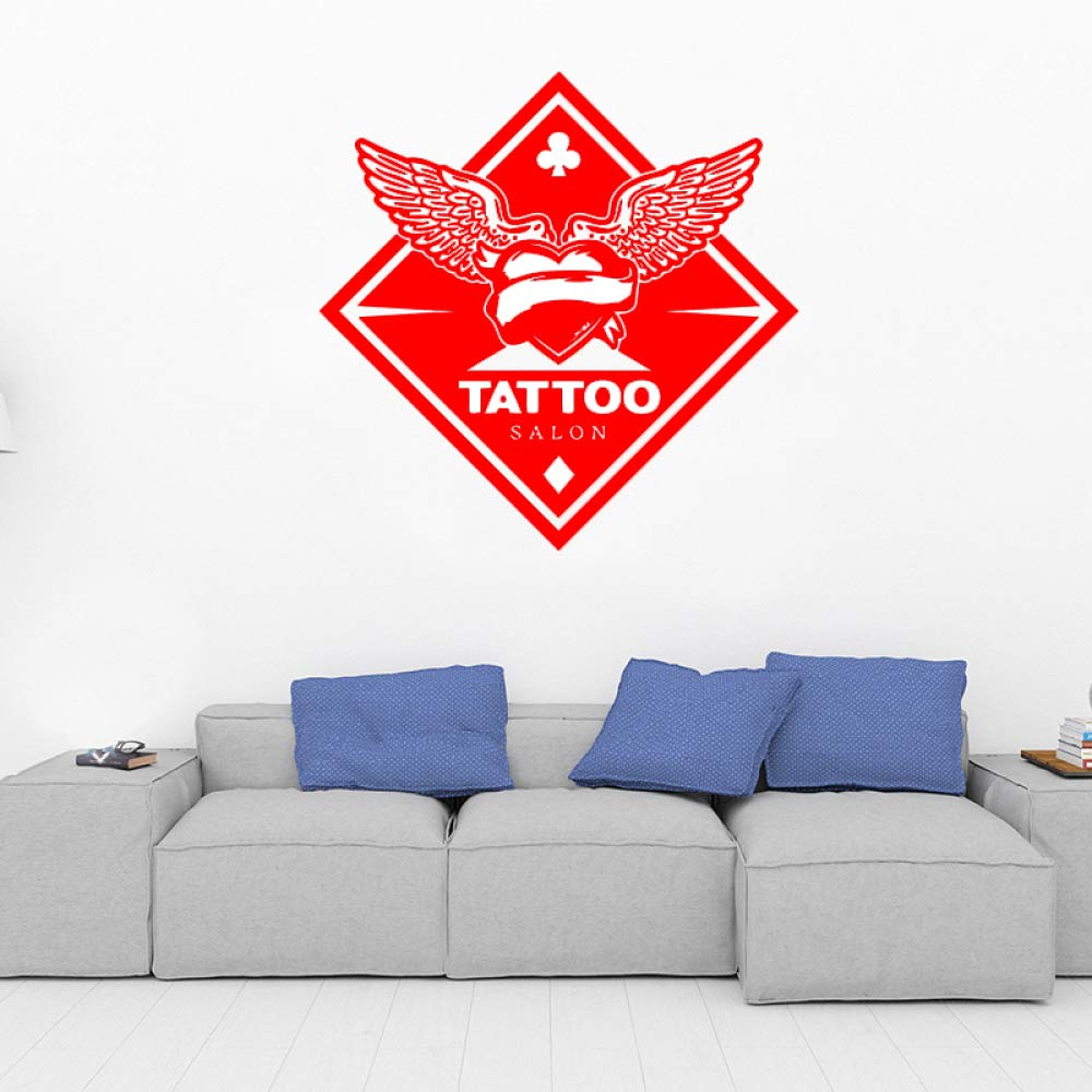 yaoxingfu Tatuaje Personalizado Salon Logo Etiqueta de la Pared ...