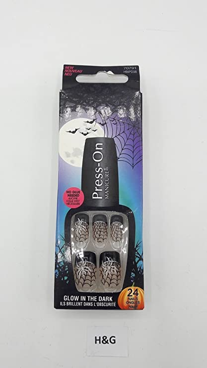 Kiss 70791 Collection Halloween press-on Manicure uñas postizas, contenido: 24 uñas,