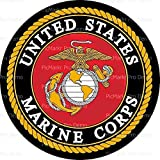 Whimsical Practicality Round Cake - United States Marine Corps Emblem - Edible Cake or Cupcake Topper, Red, 8 inch Roud