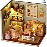 Kisoy Romantic and Cute Dollhouse Miniature DIY House Kit Creative Room Perfect DIY Gift for Friends,Lovers and Families(Happy Reunion)