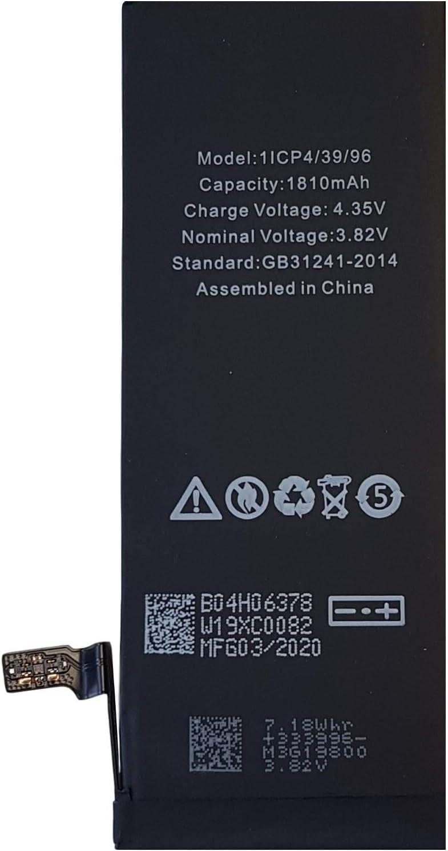 Kit de reparaci/ón Incluido Smartex/® New Black Label Bater/ía de Repuesto Compatible con iPhone 6 2 A/ños de Garant/ía 1810 mAh