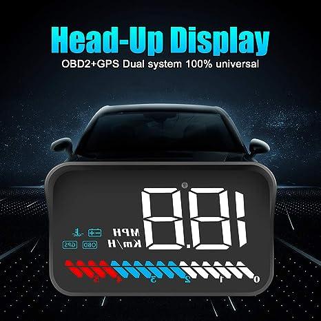 Tzp5ChB - Pantalla para Coche con proyector GPS y Alarma de ...