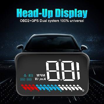 Tzp5ChB - Pantalla para Coche con proyector GPS y Alarma de Velocidad Digital M7 OBD2,