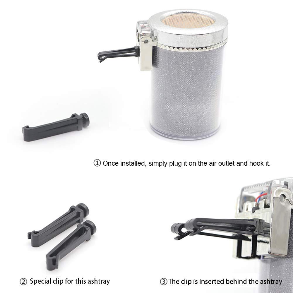 vitihipsy Posacenere per posacenere portacenere per Sigarette con Cambio di Colore a LED e Rivestimento per Auto