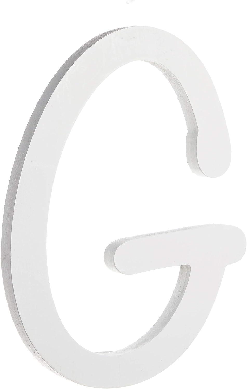Darice U9188-G 9In White Wood Letter G