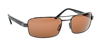 Serengeti Gafas de Sol de Titanio Ligero Tosca, Plateado Oscuro, Lente Fotocromática Polarizada Para