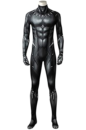 acd9702d Amazon.com: CHECKIN Black Deluxe Muscle Chest Battle Suit 3D Black Jumpsuit  Bodysuit Halloween Cosplay Costume: Clothing