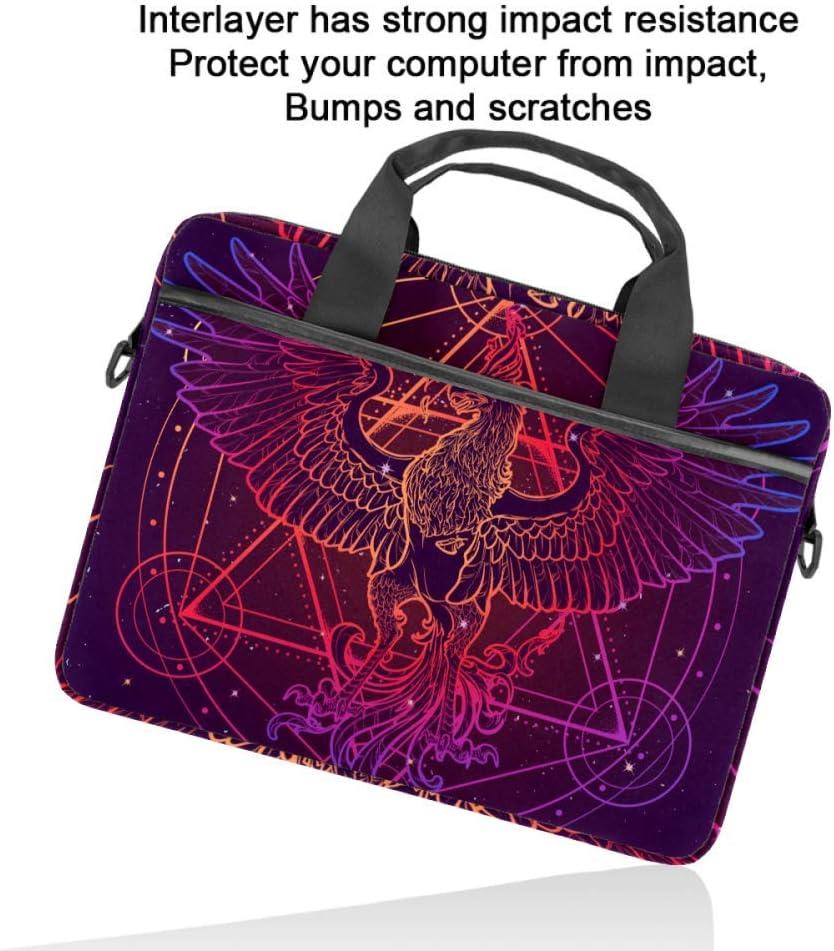Mythycal Bird Phoenix Laptop Case Canvas Pattern Briefcase Sleeve Laptop Shoulder Messenger Bag Case Sleeve for 13.4-14.5 inch Apple Laptop Briefcase