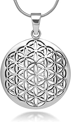 Sterling Silver Polished Flower Circle Pendant 22 27 Pendants /& Charms Jewelry
