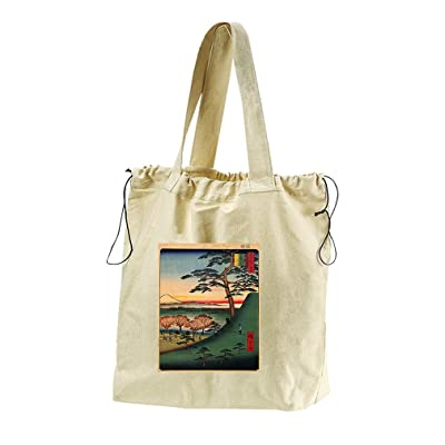 Pine Of Success (Hiroshige) Canvas Drawstring Beach Tote Bag