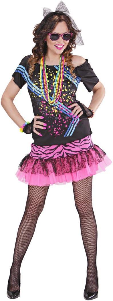 NET TOYS Disfraz años 80 Mujer Traje Disco S 34/36 Outfit Estrella ...