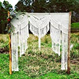 "beautiful christmas decorations Macrame Wall Decor Hanging - Bohemian Home Geometric Art Decor - Beautiful Apartment Dorm Room Decoration-Macrame Curtain-Macrame Wedding Backdrop for Christmas & Holiday Decorations W 72"" x L 82"""