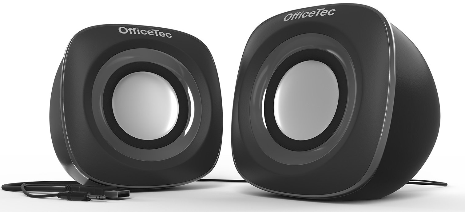 OfficeTec USB Computer Speakers Compact 2.0 System for Mac and PC (Gray) by OfficeTec (Image #3)