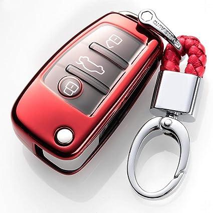 KAILLEET YY6 para Audi Key Fob Cover Protección Completa ...