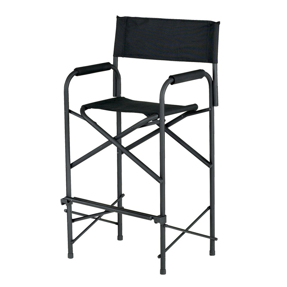 E-Z UP Directors Chair, Tall Black by E-Z UP