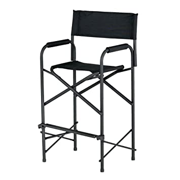 Amazing E Z UP Directors Chair, Tall Black