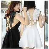 Ancefine Women Sew on Angel Wing Neckline Lace Trim