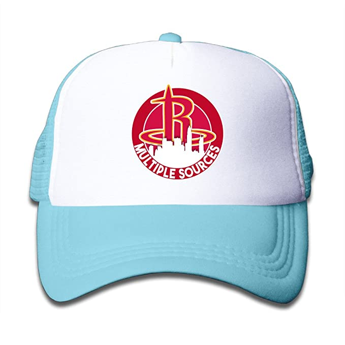 6f61b7bb5a6 Gsyful Youth Children Girl Boy Kids Custom Sport Houston Rockets Unisex  Half Mesh Adjustable Baseball Cap