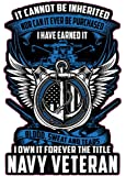 """United States Navy I have Earned it. Decal Is 5"""" in Size. from the United States."""