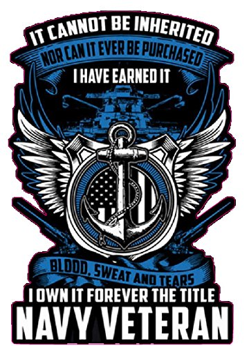 """United States Navy I Have Earned it Decal is 5"""" in Size. from The United States."""