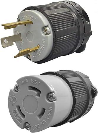 Leviton NEMA L5-30A 125VAC 2 Pole 3 Wire Grounding Outlet//Receptacle