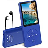 "AGPTEK A02 Reproductor de MP3 8 GB Pantalla DE 1,8"" con Radio y Grabadora de Voz, Súper duración de Radiación 70 Horas, Azul Oscuro"