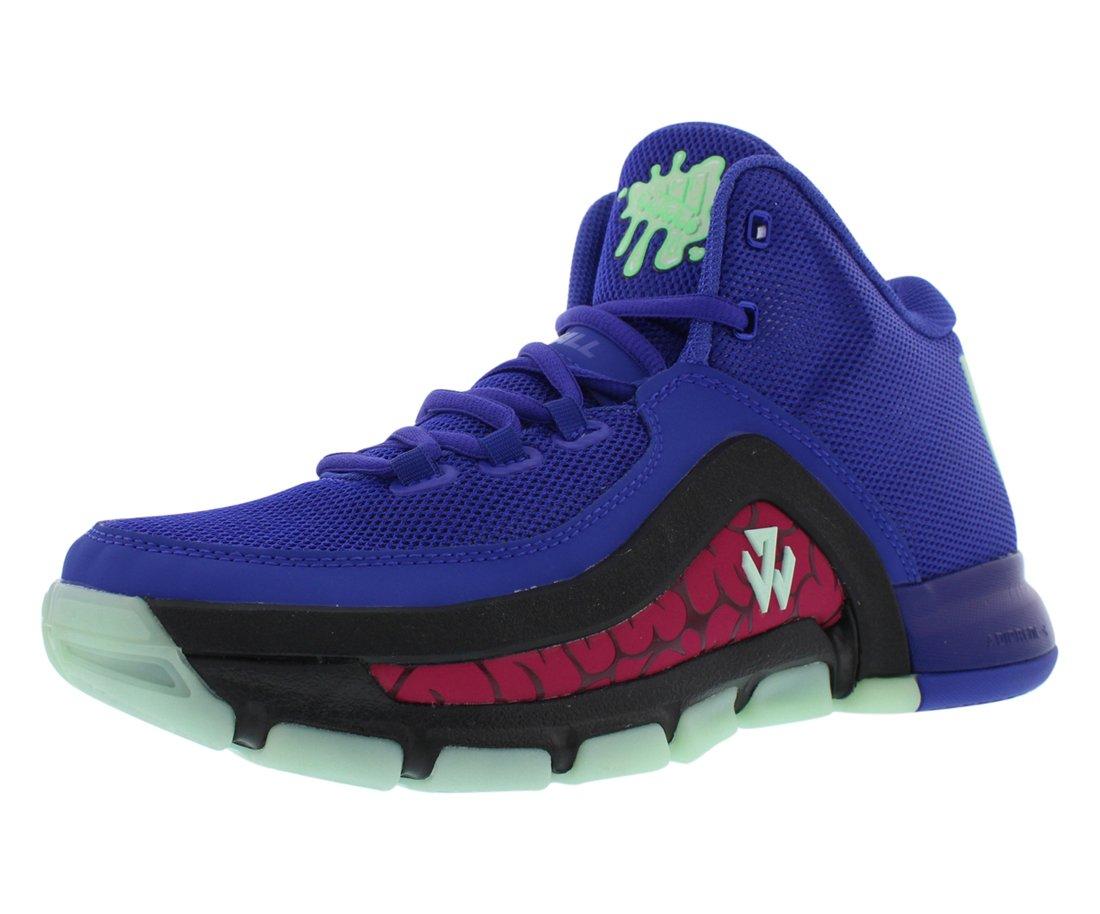 Adidas J WALL 2 J boys cross-trainer-shoes D69781_5.5 - Night Flash/Black/Frozen Green