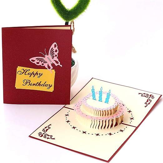 Bweele Tarjeta de felicitación 3D, Tarjeta de cumpleaños ...