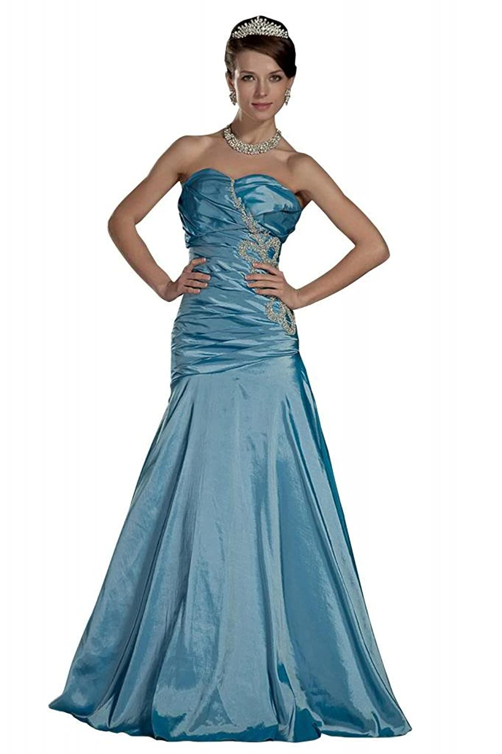 GEORGE BRIDE Classic Long Strapless Prom Gowns with Beading Decoration