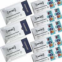 10 x Tarjeta de crédito con ID de bloqueo RFID 3 x Pasaporte Seguro RFID Funda protectora Funda protectora Antirrobo